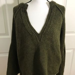 Free People Olive Sweater (S)